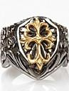 Муж. Массивные кольца Любовь Сердце бижутерия Мода Титановая сталь Крестообразной формы Бижутерия Назначение Повседневные