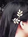 골드 사이드 클램핑 머리핀 1 개의 PC 그리스어 바람 레트로 잎