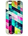 caso difícil de diamantes padrão de quebra-cabeça colorido para iPhone 5 / 5s
