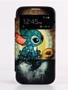 Auto Sleep/Wake Up Cartoon Turtle  Skylight Design Leather Full Body Case for Samsung Galaxy S4 I9500