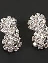 Fashion 8 Shape Diamanted Clip Earring(1 Pair)