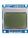 """파란색 백라이트와 1.6 """"노키아 5110 LCD 모듈 (Arduino를위한)"""