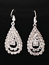 Classic Diamanted Water Drop Shape Silver Drop Earrings(1 Pair)