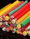 50pcs 과일 패턴 3d 지팡이 스틱로드 스티커 네일 아트 장식