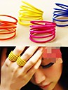 Women's Layered Band Ring - Alloy Personalized, Cute, Multi Layer 7 Yellow / Rose / Blue For Party / Daily / Casual