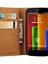 Genuine Design caso Wallet suporte de couro para Motorola Moto G
