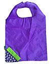 respetuoso del medio ambiente del bolso de compras plegable diseño azul de la uva