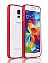Для Кейс для  Samsung Galaxy Защита от удара Кейс для Бампер Кейс для Один цвет Алюминий Samsung S5