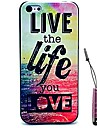 삶을 사는 당신은 패턴 하드 케이스를 사랑&아이폰 4 / 4S를위한 펜을 터치