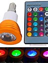 E14 LED Spotlight 1 leds High Power LED 180lm RGB Remote-Controlled AC 85-265