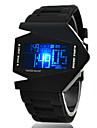 Homme Montre de Sport Montre Bracelet Montre numerique Numerique Alarme Calendrier Chronographe LED LCD Silikon Bande Noir Blanc Bleu