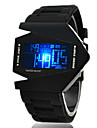 Men's Watch Sports Watch LED Digital Watch Chronograph Calendar Aircraft Silicone Strap Wrist Watch Cool Watch Unique Watch Fashion Watch