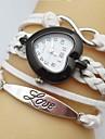 아가씨들 패션 시계 팔찌 시계 석영 가죽 밴드 Heart Shape 보헤미안 화이트 블루 레드 브라운 퍼플 로즈