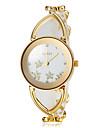 Жен. Наручные часы Часы-браслет Модные часы Японский Кварцевый сплав Группа Цветы Elegant Белый Золотистый