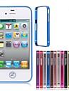 caso do pára-choque do quadro do metal para iphone 4 / 4s (cores sortidas) casos do iphone