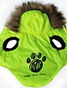 Cat Dog Hoodie Dog Clothes Cartoon Green