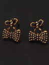 Classic Bronze Small Bowknot Shape Stud Earring(1 Pair)
