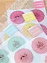 милый круглый кружевной узор стикер (случайные цвета)