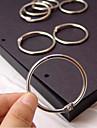 anillos de metal accesorios de album bricolaje establecidos (3 piezas)