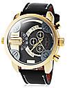 Men\'s Military Watch Dress Watch Fashion Watch Wrist watch / Quartz PU Band Cool Black