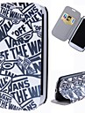 Cartoon Words Pattern Full Body Case with Stand PU Leather Case for Samsung Galaxy S3 I9300