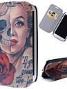 мультфильм черепа Мэрилин шаблон полный случай тела с подставкой кожаный чехол для Samsung Galaxy S3 i9300