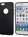 lisse ultra-mince avec le logo de style de découpe amovible pc pare-chocs et cas de TPU pour iPhone 6 (couleurs assorties)
