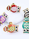 Classic Multicolor Cute Owl Shape Statement Ring(1 Pc)