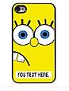 personalizado cartoon caso amarelo caso design de metal para iPhone 4 / 4S