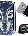 Cartoon Wolf Pattern Full Body Case with Stand PU Leather Case for Samsung Galaxy S3 I9300
