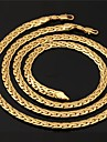 Jewelry Set Costume Jewelry Gold Plated Circle Necklaces Bracelets & Bangles For Wedding Party Daily Casual Sports Wedding Gifts