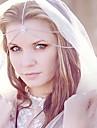 falta rose®fashion noiva jóias cabeça de prata dupla cadeia