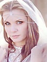 Miss ROSE®Fashion Bride jewelry Double Chain Silver Headband