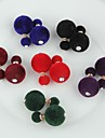 Earring Stud Earrings Jewelry Wedding / Party / Daily / Casual Alloy / Fabric Coffee / Black / White / Blue / Green / Purple / Pink