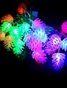 20 led 4 m etanche decoration de noel ananas rgb lumiere led chaine lumiere (220 v)