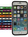 Capinha Para iPhone 6 iPhone 6 Plus Antichoque Protetora de Quinas Côr Sólida Macia TPU para iPhone 6s Plus iPhone 6 Plus iPhone 6s