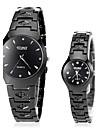 Bărbați pentru Doamne Ceas Elegant Ceas La Modă Ceas de Mână Quartz Oțel inoxidabil Bandă Negru