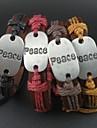 mode 4 couleurs charmes de paix corde de chanvre bracelet d'hommes de femmes de cuir