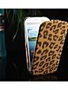Для Кейс для  Samsung Galaxy Флип / С узором Кейс для Чехол Кейс для Леопардовый принт Искусственная кожа Samsung S3