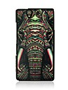 caso duro padrão das veias couro elefante para Sony Xperia z / l36h