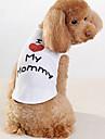 Hund T-shirt Hundetøj Bogstav & Nummer Hvid Bomuld Kostume For kæledyr