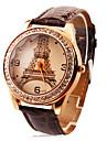 ของขวัญส่วนบุคคล นาฬิกา, ระบบอนาล็อก นาฬิกาอิเล็กทรอนิกส์ (Quartz) นาฬิกา With โลหะผสม กรณีวัสดุ หนัง วงดนตรี นาฬิกาแฟชั่น ทนน้ำลึก