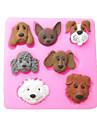 sept chiens carton cuisson fondant gateau choclate bonbons moule, l7.2cm * w7.1cm * h1cm