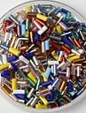 350pcs multicolor margele tub de sticlă cu ponei 2mm lucrate manual artizanale DIY accesorii / materiale de îmbrăcăminte