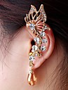 Fashion Exquisite Women Butterfly Crystal Ear Cuffs Random Color