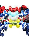 osseuse colore avec des jouets en forme de corde pour chiens de compagnie (couleur aleatoire)