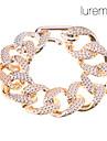 lureme®gold banhado acrílico batendo pulseira cadeia glaze