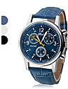 Муж. Наручные часы Кварцевый Повседневные часы Кожа PU Группа Аналоговый На каждый день Черный / Белый / Синий - Белый Черный Синий Один год Срок службы батареи