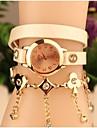 мода женская кожаная прикован японский кварцевый часы (разных цветов)