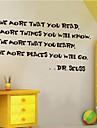 Pessoas Vintage Palavras e Citacoes Desenho Animado Adesivos de Parede Etiquetas de parede de palavras e citacoes Autocolantes de Parede